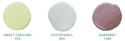 Sweet Caroline 478, Oystershell 864, Barberry 1244