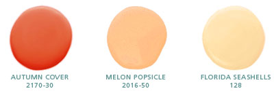 Autumn Cover 2170-30, Melon Popsicle 2016-50, Florida Seashells 128