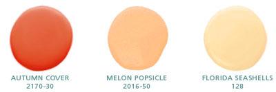 Autumn Cover 2170-30, Melon Popsicle 2016-50, Florida Seashells 128
