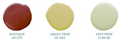 Rustique AF-275, Anjou Pear AF-425, Soft Fern 2144-40