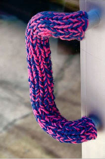 Knit bomb door handle