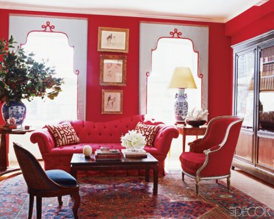 Miles Redd Elle Decor Red