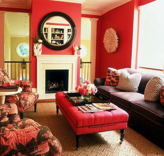 Alessandra branca red living room