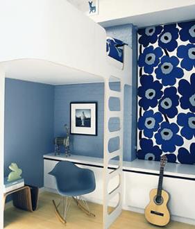 Ghislaine Vinas Marimekko bedroom