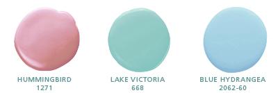 Hummingbird 1271; Lake Victoria 668; Blue Hydrangea 2062-60