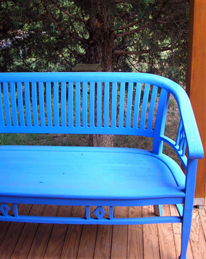 My blue bench