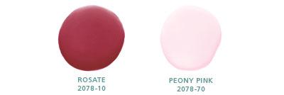Rosate 2078-10, Peony Pink 2078-70