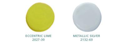 Eccentric Lime 2027-30, Metallic Silver 2132-60