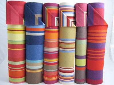 Les Toiles deck chair fabrics