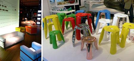 Cassina Chairs and Sofas_Oskar Zieta Stools at Moss