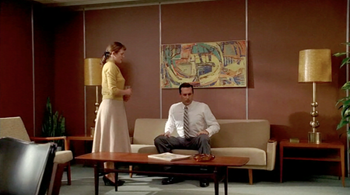 Mad Men Office living in color: mad men, old and new