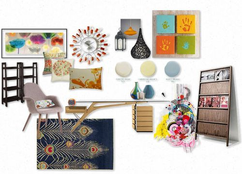 Mood Board with Benjamin Moore Color
