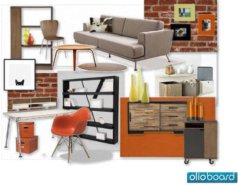 Olioboard Bmoreguy Orange Retro Mood Board