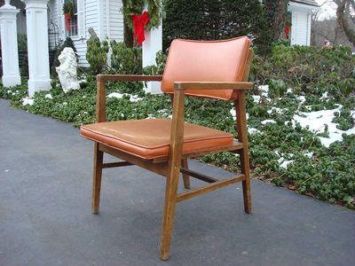Wood Upholst Desk chair 1
