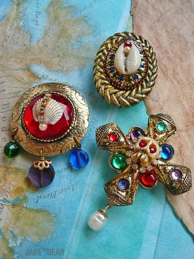 Upcycled Jewelry Magnets