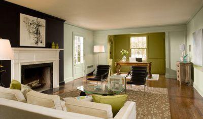 Gossamer blue living room benjamin moore