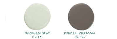 Wickham Gray HC-171; Kendall Charcoal HC-166