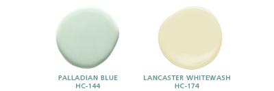 Paladian Blue HC-144; Lancaster Whitewash HC-174
