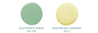 Southfield Green HC-129; Beacon Hill Damask HC-2