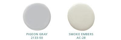 Pigeon Gray 2133-50, Smoke Embers AC-28