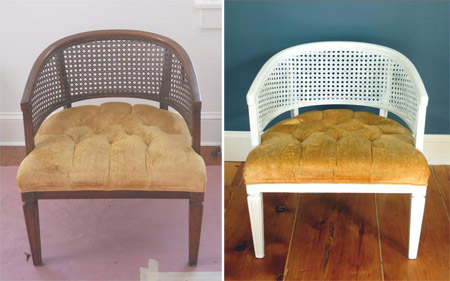 Before_and_after_recycled_cane_chair