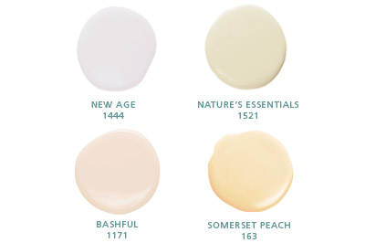 New Age 1444, Nature's Essentials 1512, Bashful 1171, Somerset Peach 163