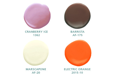 Cranberry Ice 1362, Barrista AF-175, Marscapone AF-20, Electric Orange 2015-10